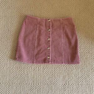 Forever 21 Pink Corduroy Skirt